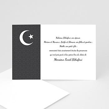 Carte remerciement décês musulman Croissant de lumiêre 2