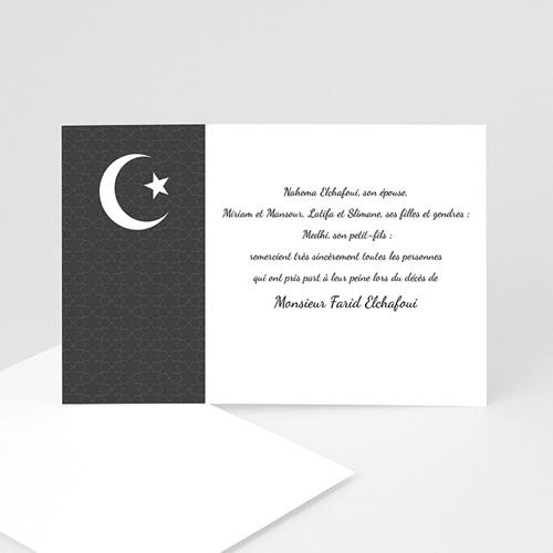 Remerciements Décès Musulman - Croissant de lumière - 2 3254