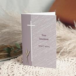 Carte remerciement décès chrétien Je vous salue Marie - Blé