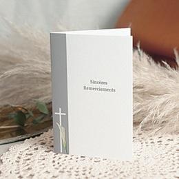 Carte remerciement décès chrétien Triste fleur - 2