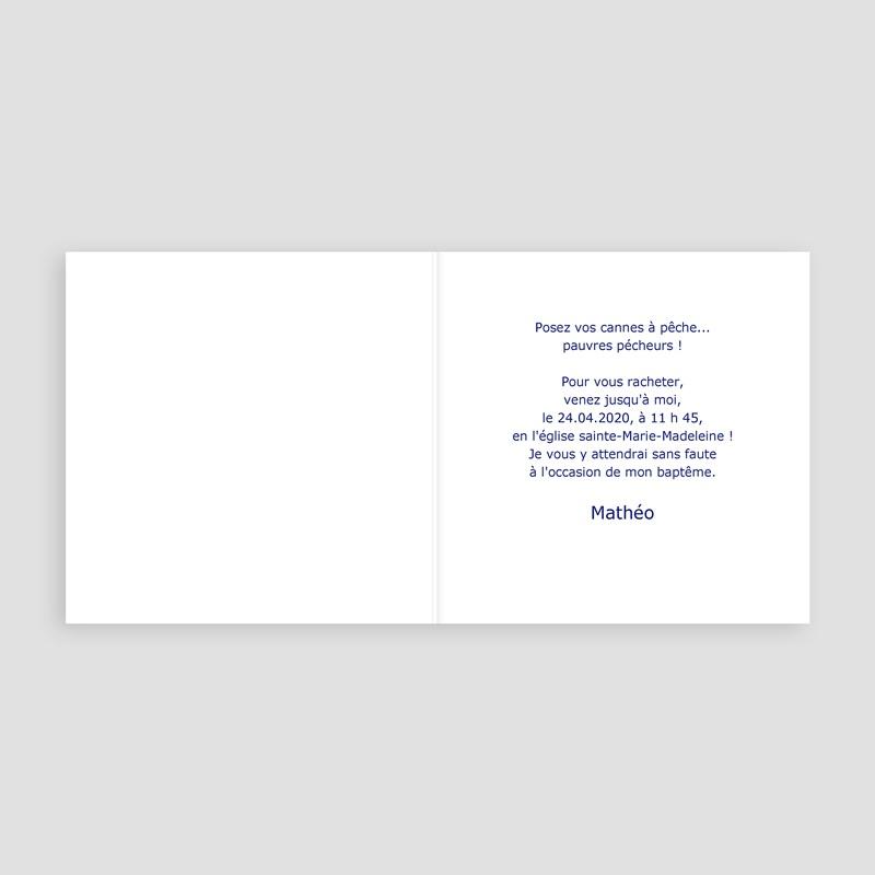 Faire-Part Baptême Garçon Croix, dragées de Baptême - Bleu pas cher