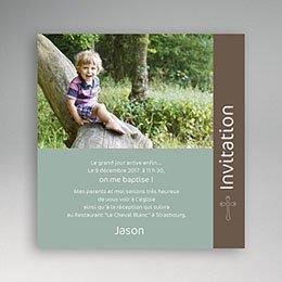 Faire-part baptême garçon Baptême Pop - Garçon