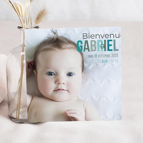 Faire-Part Naissance Garçon - Douceur Nocturne 35040