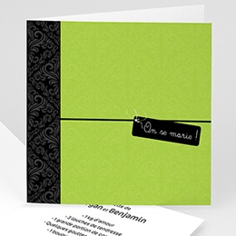 Save-the-date - Vert Pomme - 3