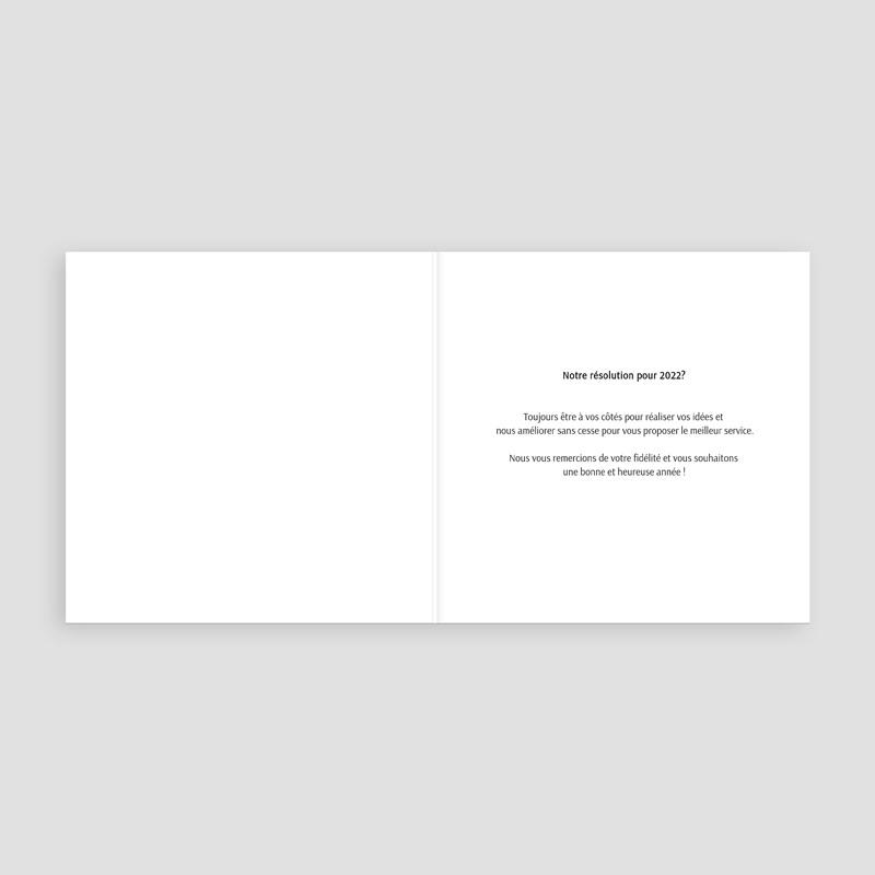 Carte de Voeux Entreprise Une année parlante pas cher