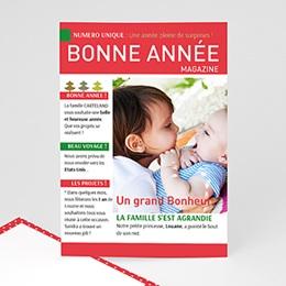 Carte de voeux Bonne Année format magazine humour