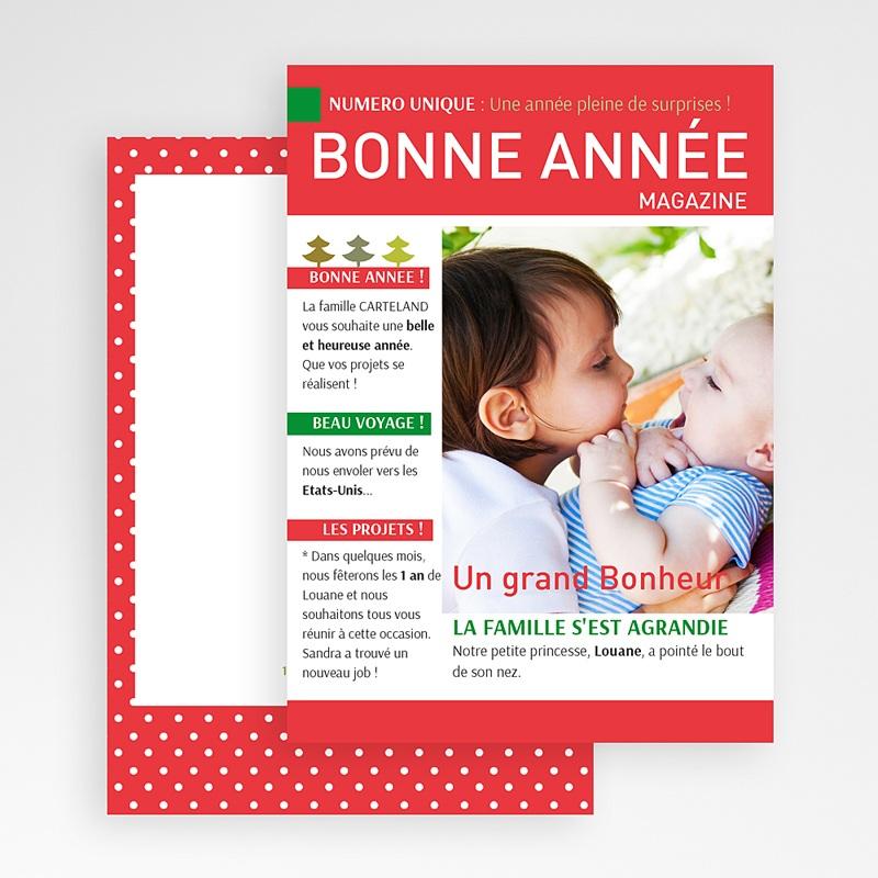 Carte de Voeux Bonne Année format magazine humour gratuit