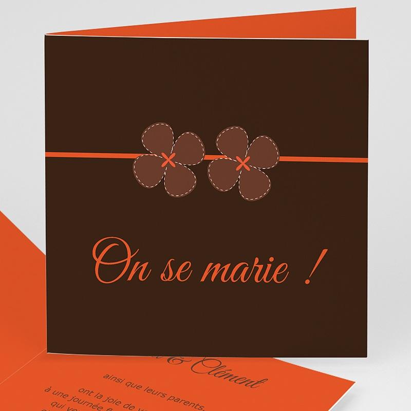 Faire-Part Mariage sans photo - Mariage en Automne 3514 thumb