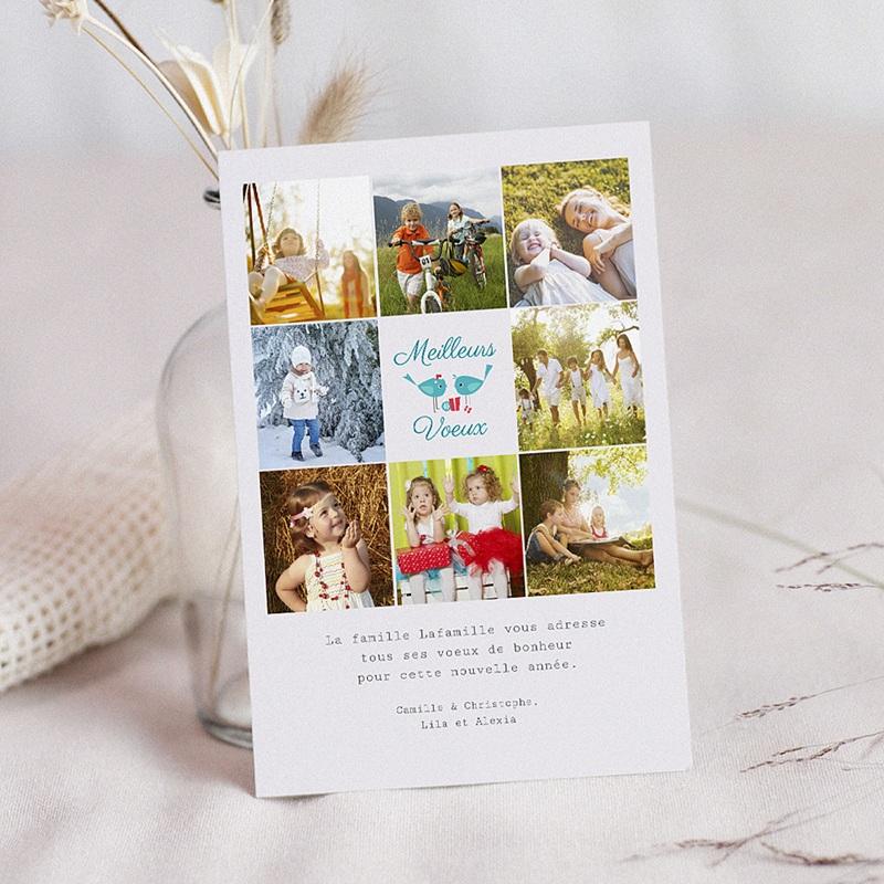 Carte de Voeux Meilleurs voeux Souhaits de Famille multiphotos