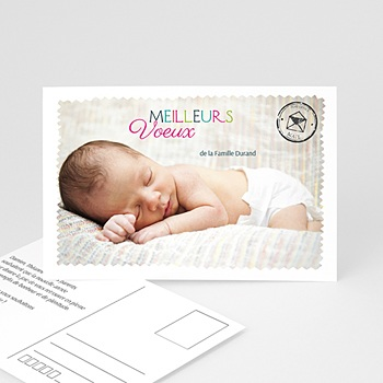 Carte de voeux Meilleurs Voeux type carte postale