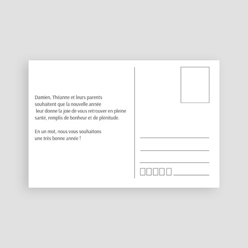Carte de voeux Meilleurs Voeux type carte postale pas cher