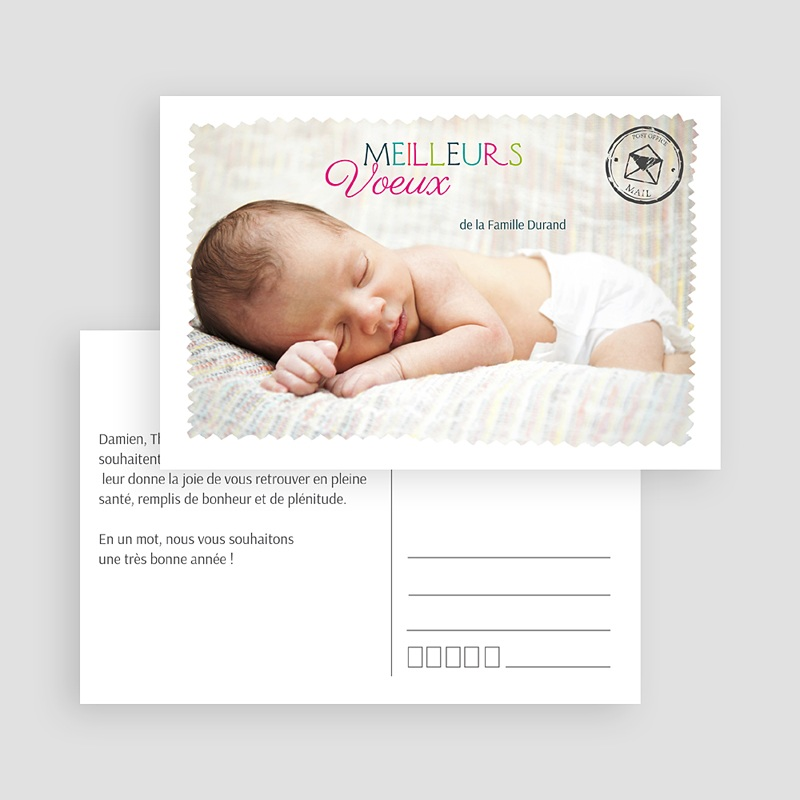Carte de Voeux Meilleurs Voeux type carte postale gratuit