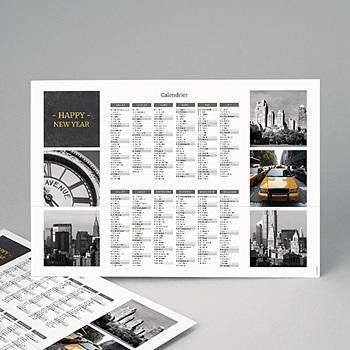 Calendrier Monopage Autour du monde personnalisé