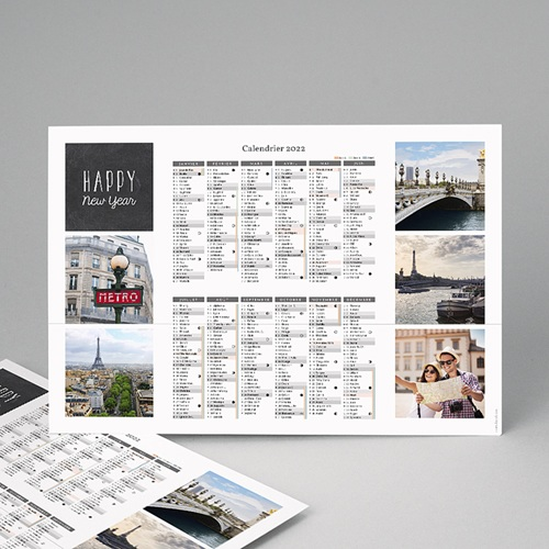 Calendrier photo monopage 2020 personnalisé Autour du monde