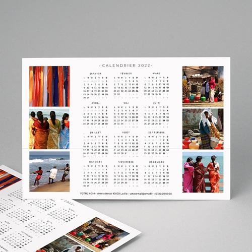 Calendrier Entreprise 6 photos et vacances scolaires