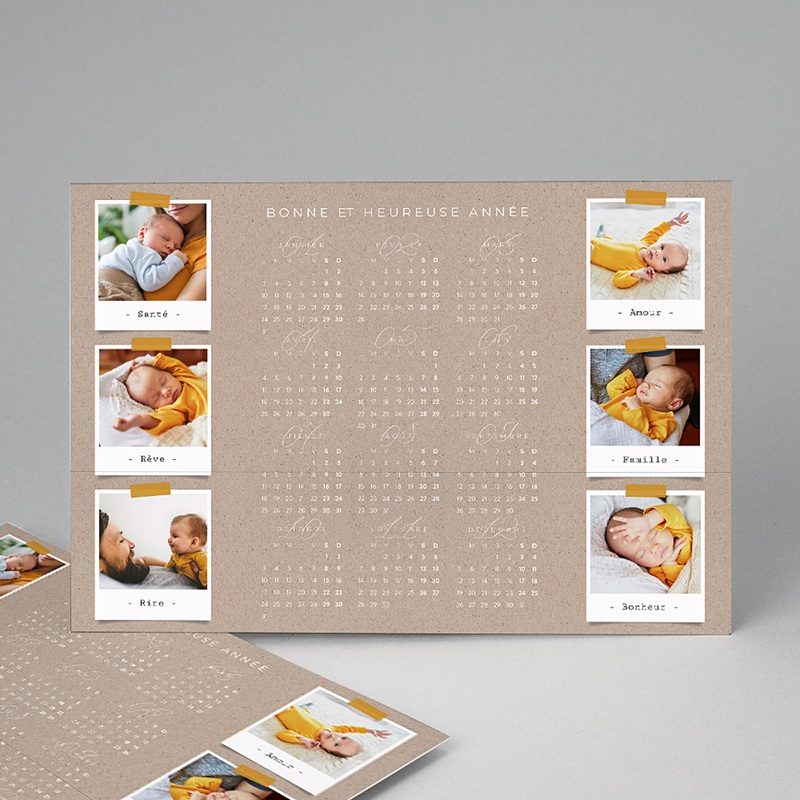 Calendrier Monopage Collage