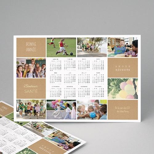 Calendrier photo monopage 2020 personnalisé Diaporama annuel