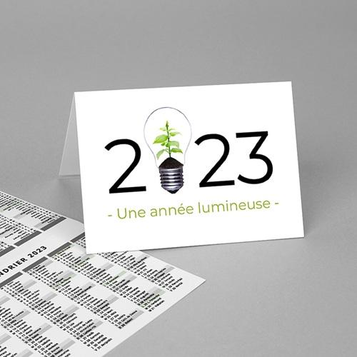 Calendrier de Poche 2020 Idée verte, vacances scolaires et jours fériés