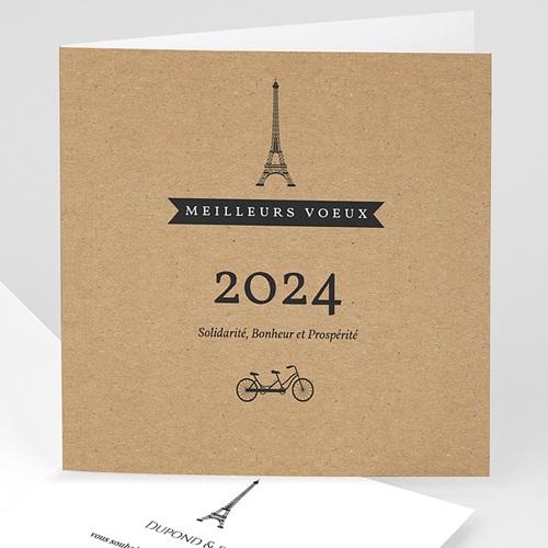Cartes de Voeux Professionnels - Paris Kraft 35515 thumb