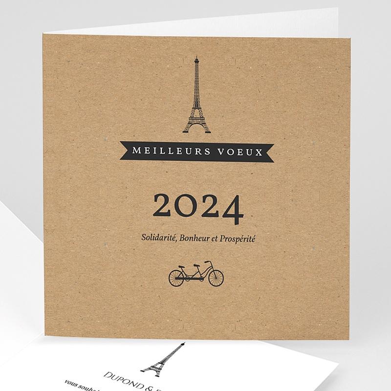 Carte de voeux entreprise Paris Kraft