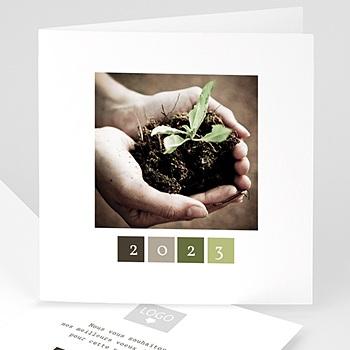 Carte de voeux entreprise Protégeons la nature personnalisable