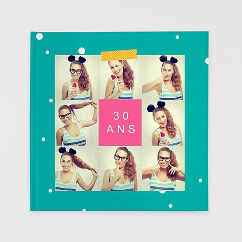 Livre-Photo Carré 30 x 30 Anniversaire Flashy