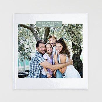 Livre-photo carré 30 x 30 douceur blanche sur mesure