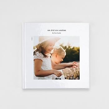 Livre-Photo Carré 20 x 20 Douceur blanche à personnaliser
