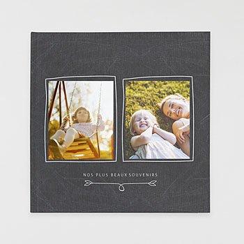 Livre-photo carré 30 x 30 famille ardoise pas cher