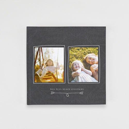 Livre Photo Carré 20 x 20 Moderne Ardoise