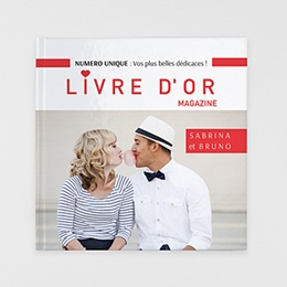Livre photo Livre d'or Rouge magazine