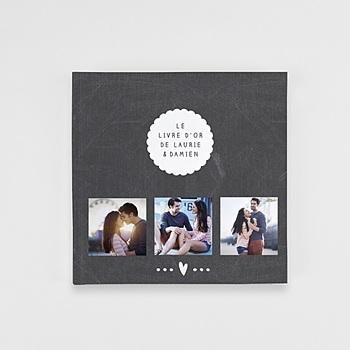 Livre Photo Carré 20 x 20 - Livre d'or Ardoise - 1