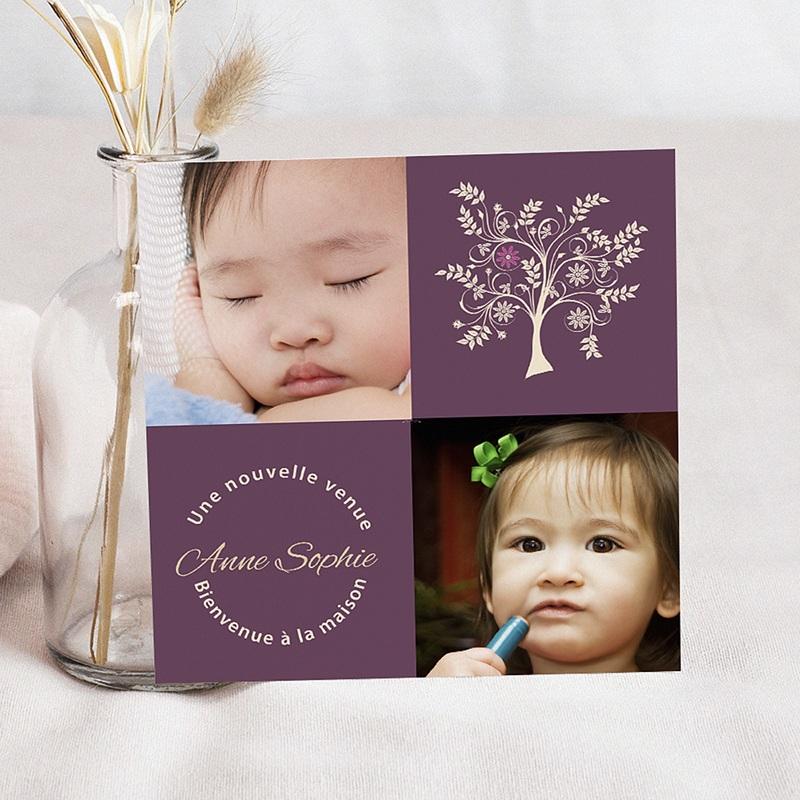Faire-part Adoption Fille - L'arbre de la liberté 3610 thumb