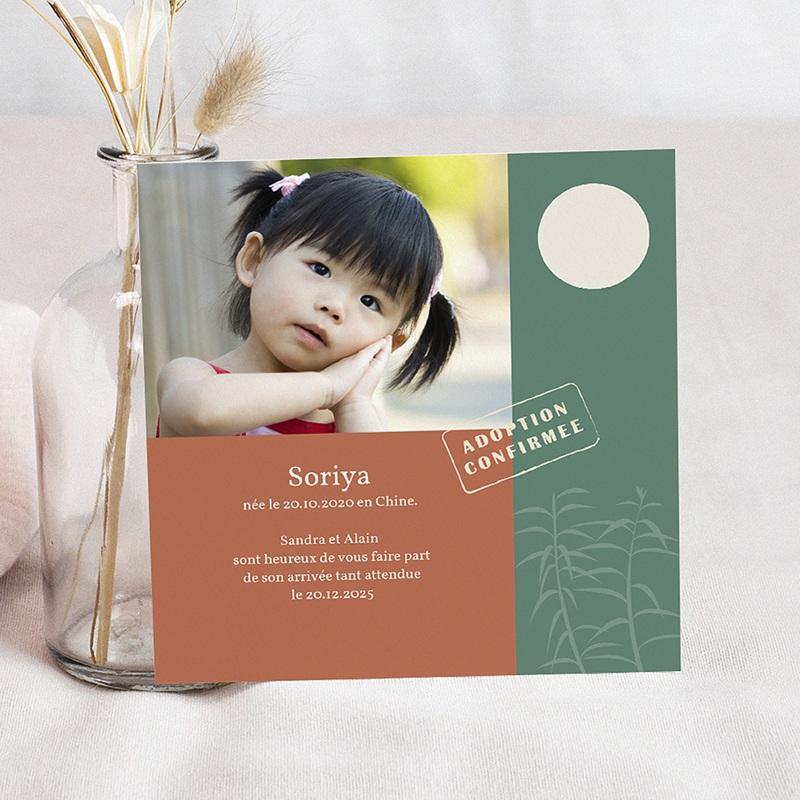 Faire-part Adoption Fille - Adoption venue d'Asie 3614 thumb