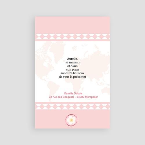 Faire-part Adoption Fille - L'amour sans frontière - Rose 3623 thumb