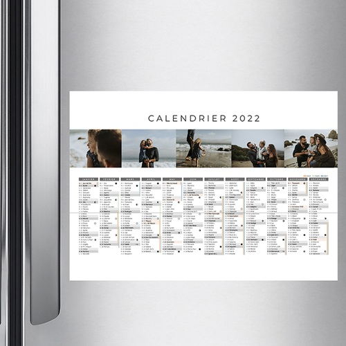 Calendrier Monopage - Planning multiphotos  36289 preview