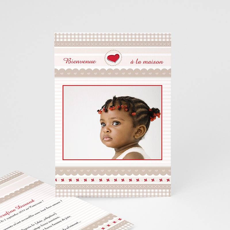 Faire-part Adoption Fille - L'Amour grandissant 3630 thumb