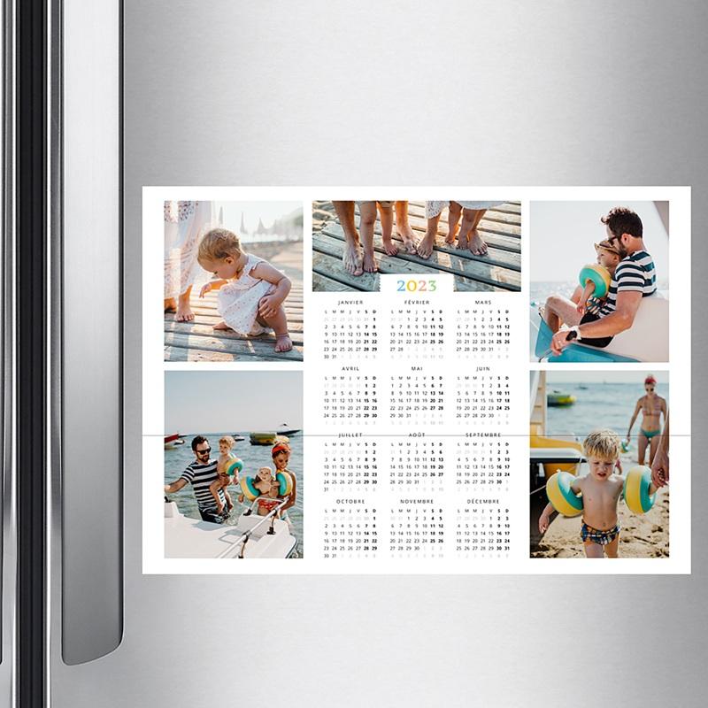 Calendrier photo monopage 2020 personnalisé Arc-en-ciel de couleurs - mural pas cher
