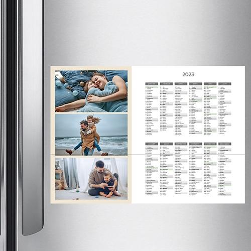 Calendrier Monopage - L'année en trio -Beige 36474 preview