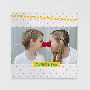 Livre-Photo Carré 30 x 30 Famille à pois