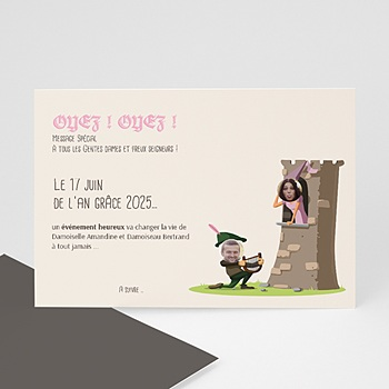 Save the date mariage moyen age personnalisable