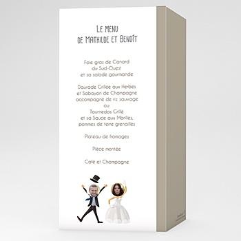Créer soi même menu mariage personnalisé on se marie !