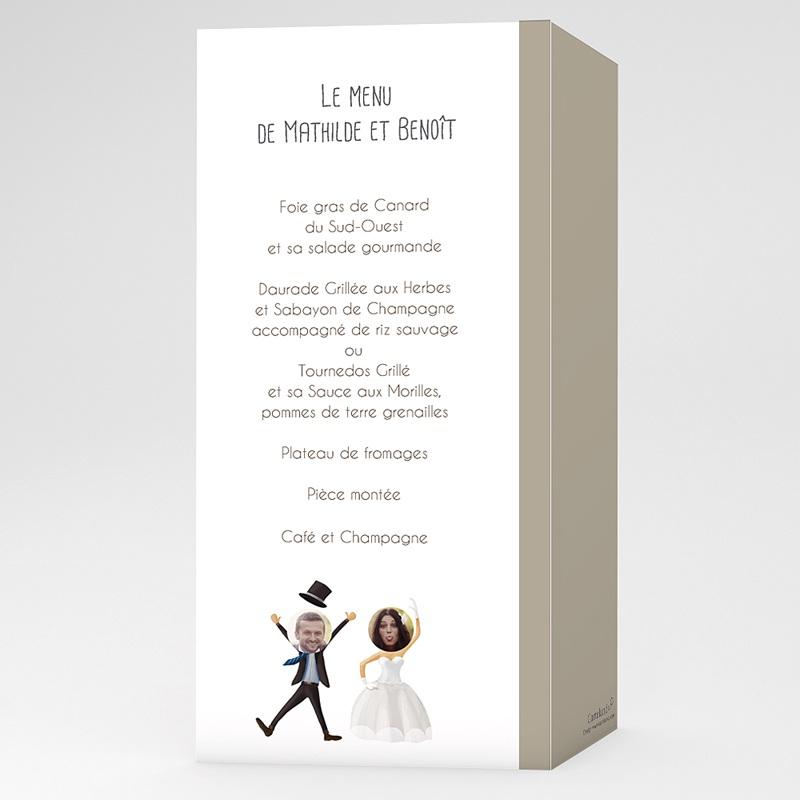 Menu Mariage Personnalisé On se marie !