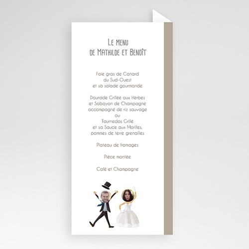 Menu Mariage Personnalisé On se marie ! pas cher