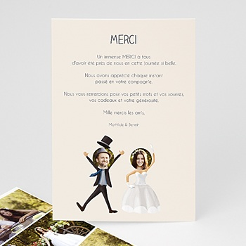 Remerciements Mariage Humour - On se marie !