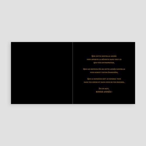 Cartes de Voeux Professionnels - Féerie Or 3655 thumb