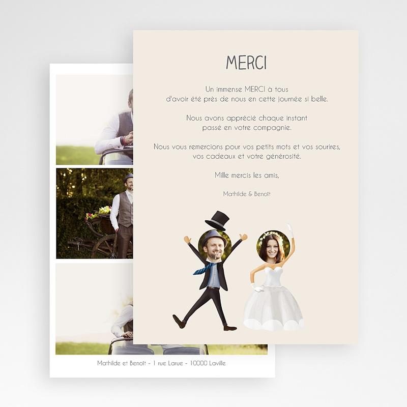 Remerciements Mariage Personnalisés On se marie ! gratuit