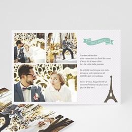 Remerciements Mariage Personnalisés - Paris Tour Eiffel - 0