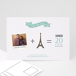 Save the date Mariage Paris Tour Eiffel