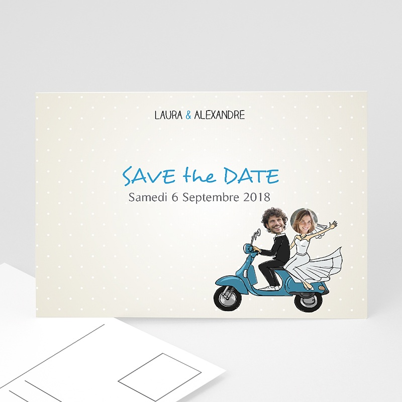 Save the date mariage Vespa